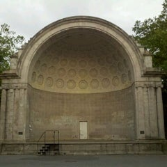 Photo taken at Naumburg Bandshell by Lauren R. on 6/1/2012