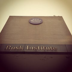 Photo taken at NYULMC-RUSK Institute by Pete J. on 8/30/2012