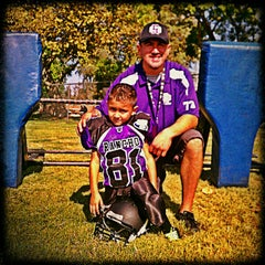 Photo taken at Rancho Cucamonga Pop Warner Field by Backstage Gabe ♚. on 9/8/2012