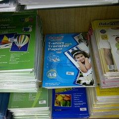 Photo taken at Fajar Agung Book Store by Indah.S.Dwansi on 2/29/2012