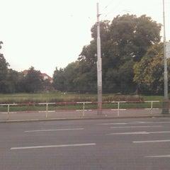Photo taken at Karlovo náměstí (tram, bus) by Lucie H. on 8/22/2012