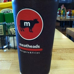 Photo taken at Meatheads Burgers & Fries by Jamie W. on 3/25/2012