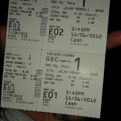 Photo taken at Golden Screen Cinemas (GSC) by Irfan A. on 6/11/2012