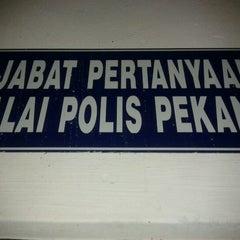 Photo taken at Ibupejabat Polis Daerah Pekan by Faizal O. on 5/18/2012