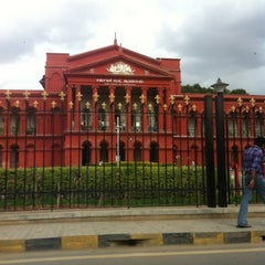 Photo taken at The High Court of Karnataka by Nikhil K. on 7/25/2012