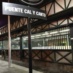 Photo taken at Metro Puente Cal y Canto by Alejandr on 6/12/2012