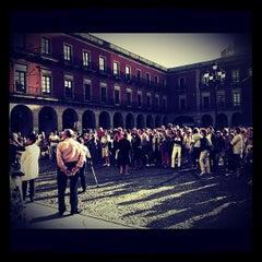 Photo taken at Plaza del Ayuntamiento by María M. on 6/25/2012