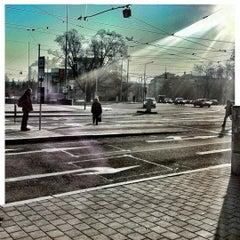 Photo taken at Moravské náměstí by Pavel S. on 2/2/2012