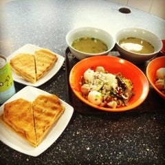 Photo taken at Marine Terrace Market & Food Centre by Zaylene T. on 7/11/2012