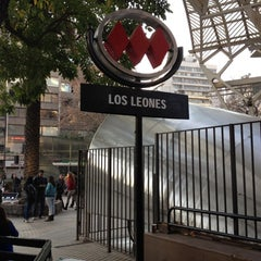 Photo taken at Metro Los Leones by Lucho4Ever L. on 6/23/2012