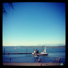 Photo taken at Crescent Beach by Alma S. on 8/5/2012