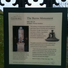 Photo taken at Burns Monument by Heather T. on 4/19/2012