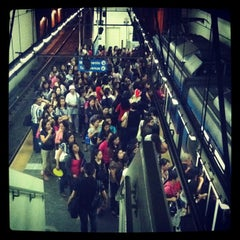 Photo taken at Yellow Line - Buendia Station by Cathie C. on 2/17/2012