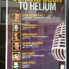 Photo taken at Helium Comedy Club by Stevo on 7/12/2012
