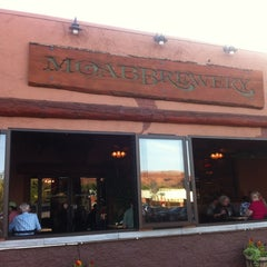 Photo taken at Moab Brewery by Jenna on 5/13/2012