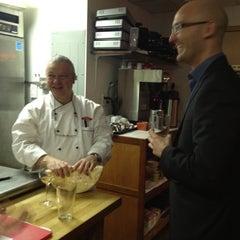 Photo taken at Swizz Restaurant & Wine Bar by Jen C. on 4/17/2012