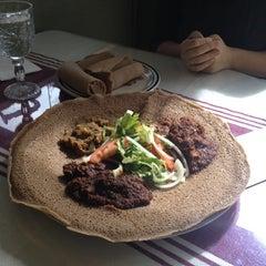 Photo taken at Gojo Ethiopian Restaurant by Piotr M. on 2/26/2012