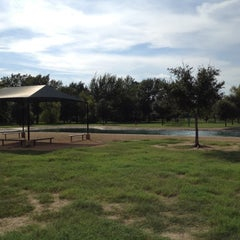 Photo taken at Bill Archer Dog Park by Felix T. on 7/24/2012