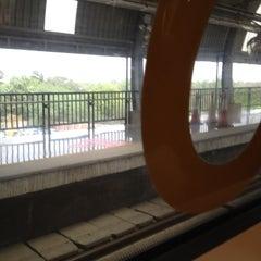 Photo taken at Qutab Minar Metro Station by Mohit G. on 6/11/2012