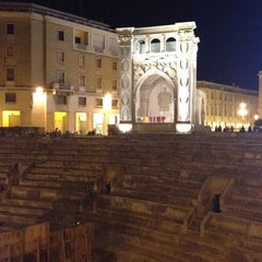 Photo taken at Piazza Sant'Oronzo by Paola G. on 8/11/2012
