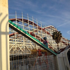 Photo taken at Giant Dipper Rollercoaster by Holly B on 3/25/2012