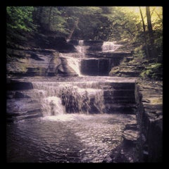 Photo taken at Buttermilk Falls State Park by Mottel L. on 6/8/2012