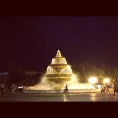 Photo taken at Hüseyn Cavid parkı by Kamilla G. on 8/24/2012