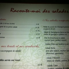 Photo taken at Raconte-Moi des Salades by Olivier G. on 4/26/2012