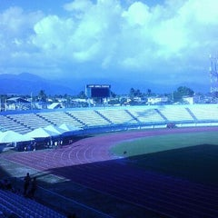 Photo taken at Larry Gomes Stadium by Joel F. on 2/7/2012