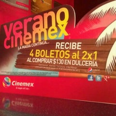 Photo taken at Cinemex by Erick L. on 6/16/2012