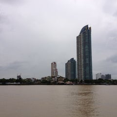Photo taken at Bangkok Bistro Riverfront by Ananya S. on 6/19/2012