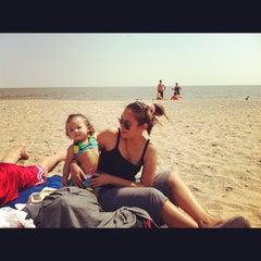 Photo taken at Gimli Public Beach by Bing B. on 7/14/2012