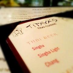 Photo taken at Titaya's Thai Cuisine by Jin C. on 8/11/2012