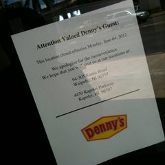 Photo taken at Denny's by Electric B. on 7/14/2012