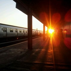 Photo taken at MTA Subway - Rockaway Blvd (A) by Sandeep D. on 2/17/2012