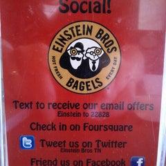 Photo taken at Einstein Bros Bagels by Leo K. on 5/17/2012