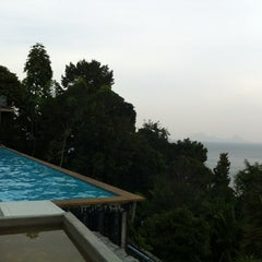 Photo taken at Koh Ngai Cliff Beach Resort by Ploy J. on 3/21/2012