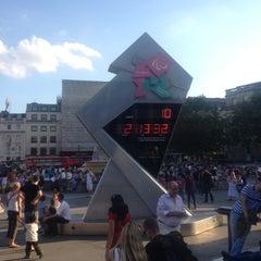 Photo taken at London 2012 OMEGA Countdown Clock by Blake on 8/19/2012