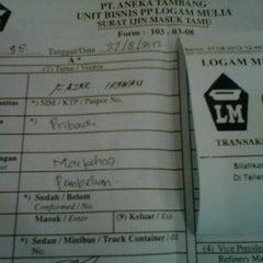 Photo taken at Logam Mulia PT Antam Tbk by Fajar O. on 8/27/2012