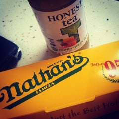 Photo taken at Nathan's Famous by S Michele K. on 6/26/2012
