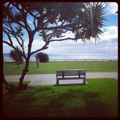 Photo taken at Coolangatta Beach by Celal H. on 4/18/2012