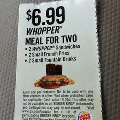 Photo taken at Burger King by Erica B. on 7/1/2012
