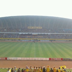 Photo taken at Stadion Gelora Sriwijaya (GSJ) by Jimmy P. on 6/16/2012