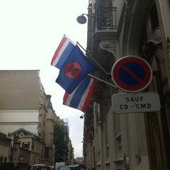 Photo taken at Ambassade Royale de Thaïlande | สถานเอกอัครราชทูตไทย ณ กรุงปารีส | Royal Thai Embassy in Paris by YAB I. on 6/26/2012