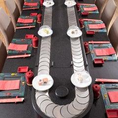 Photo taken at Hai Sushi Kalamış by Divandayiz on 2/3/2012