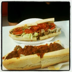 Photo taken at White House Sub Shop by Cindy on 5/1/2012