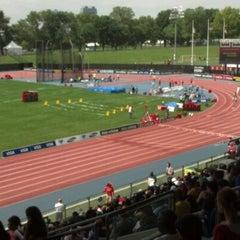 Photo taken at Icahn Stadium by Corey W. on 6/9/2012