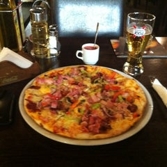 Photo taken at Azzurro Pizza by Sorin M. on 3/24/2012