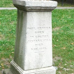 Photo taken at Granary Burying Ground by Patrick H. on 8/25/2012