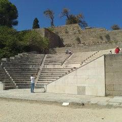 Photo taken at Αρχαίο Στάδιο (Ancient Stadium) by Alexander Z. on 9/6/2012